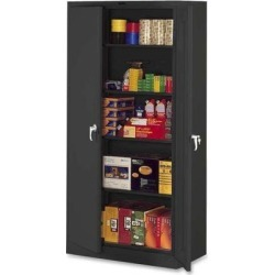 Tennsco Storage Cabinets Deluxe 36'Wx24'Dx78'H Black 7824BK