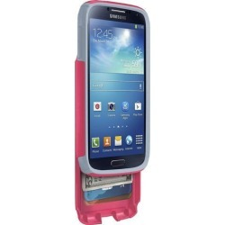 OtterBox Commuter Series Wallet Case for Samsung Galaxy S4 - Retail Packaging - Pink/Gray (Discontinued by Manufacturer)