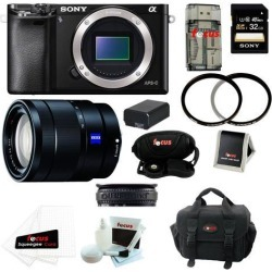 Sony a6000: Alpha a6000 ILCE-6000/B Interchangeable Lens Camera Body with 16-70mm Lens and 32GB Deluxe Accessory Kit