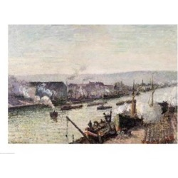 Posterazzi BALXIR181208LARGE Saint-Sever Port Rouen 1896 Poster Print by Camille Pissarro - 36 x 24 in. - Large