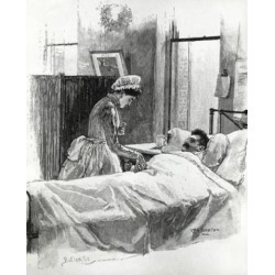 Posterazzi SAL995103118 The Birth of the American Trained Nurse-Taking the Pulse Artist Unknown Poster Print - 18 x 24 in.