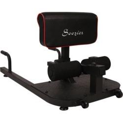 Multifunctional Adjustable Squat Machine Deep Sissy Leg Exercise Home Gym Black