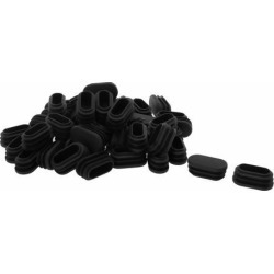 Unique Bargains 50 Pcs Antislip Plastic Oval 40mm x 20mm Chair Foot Cover Table Furniture Leg Protector Black found on Bargain Bro India from Newegg Canada for $14.19