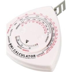 BMI Calculator 1.5m 6 Inch Double Scale Body Tape Measure