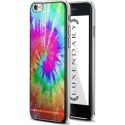 LUXENDARY CLEAR TIE DYE DESIGN CHROME SERIES CASE FOR IPHONE 6/6S PLUS
