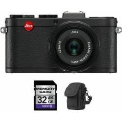 Leica X2 Digital Compact Camera w/24mm f/2.8 ASPH Lens - Black + 32GB & Case
