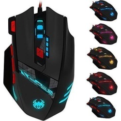 Zelotes 4000 DPI Programmable Gaming Mouse for PC Mac Computer Laptop, 12 Programmable Buttons, Weight Tuning Set, Wired USB Connection