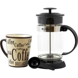 MR. COFFEE 108163.02 Cafe Oasis 2 Piece Glass Coffee Press & Mug Gift Set