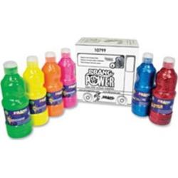 Prang Power Fluorescent Paint Set - 16 fl oz - 6 / Set - Neon Green, Neon Yellow, Neon Orange, Neon Pink, Neon Red, Neon