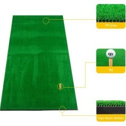 Golf Double Hole Strike Pad 5ft*3ft Green