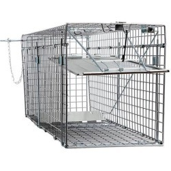 Large One Door Collapsible Catch Release Heavy Duty Humane Cage Live Animal Trap for Gophers, Racoons, Possums, Groundhogs, Beavers, and Other.