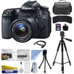 Canon EOS 70D Digital SLR Camera with 18-55mm STM Lens includes 16GB Memory + Large Case + Tripod + Card Reader + Card Wallet + HDMI Mini Cable +.
