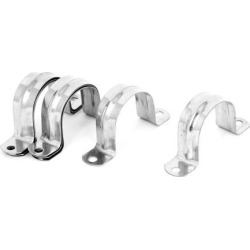 8pcs 2-Hole Rigid Conduit Pipe Straps Clips Clamps for 40mm Dia Tube