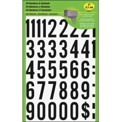 Hy Ko Products MM-7N 2 in. Black On White Numbers