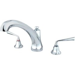 Two Handle Roman Tub Filler in Chrome by Kingston Brass