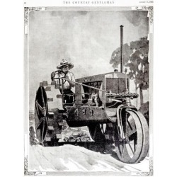 Posterazzi DPI12272533 Historic Illustration of Farmer on Wallis Tractor in Early 29th Century Poster Print - 13 x 18 in.