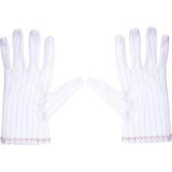Anti Static Gloves Full Finger Labor Non-slip Glove for Electronics 200x90mm White 3 Pairs
