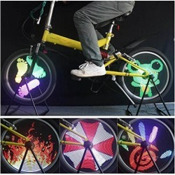 Bicycle Light 96 LED Colorful Patterns Wheel Light for 20' Bike Wheel