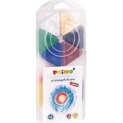 Stride 0731TR Primo Triangle Crayons, Assorted Colors, 12/Pack