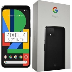 Google Pixel 4 G020M 64GB 5.7 inch Android (GSM Only, No CDMA) Factory Unlocked 4G/LTE Smartphone - Just Black