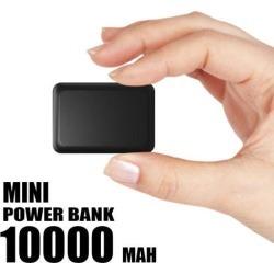 UNIVERSAL 10000 MAH MINI USB POWER BANK WITH 2.1A OUTPUT - BLACK