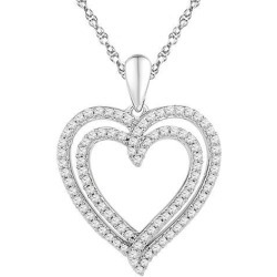 1/2 Carat (ctw Color J-K Clarity I2-I3) Diamond Heart Pendant Necklace in 10K White Gold with Chain found on Bargain Bro Philippines from Newegg Canada for $457.03