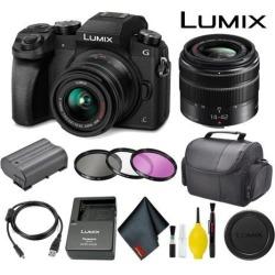 Panasonic Lumix DMC-G7 Mirrorless Micro Four Thirds Digital Camera with 14-42mm Lens Standard Bundle