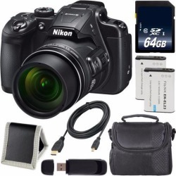 Recertified - Nikon COOLPIX B700 Digital Camera + EN-EL23 Lithium Ion Battery + 64GB SDXC Class 10 Memory Card + Carrying Case + Micro HDMI Cable +