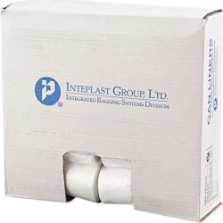 Inteplast Group SL2433LTN Low-Density Can Liner, 24 x 33, 16gal, .35mil, Clear, 50/Roll, 20 Rolls/Carton, 1 Carton