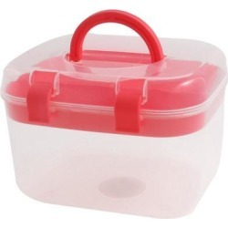 Unique Bargains Household Plastic Multi-functional Medicine Chest Pill First Aid Case Red found on Bargain Bro Philippines from Newegg Business for $9.72