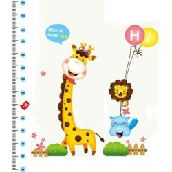 Unique Bargains Giraffe Height Chart Measure Design Removable Wall Decor Sticker Decal Room found on Bargain Bro Philippines from Newegg Canada for $11.89
