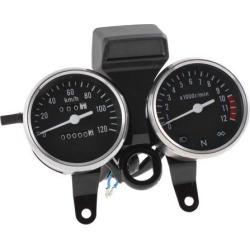 DC 12V Odometer Tachometer Speedometer Gauge Cluster 0-120km/h for Motorcycle GN
