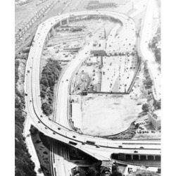 Posterazzi SAL255424579 USA New York State New York City Aerial View of the Approach to the Licoln Tunnel Poster Print - 18 x 24 in.