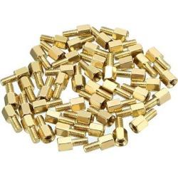 50pcs M3 5+6mm Female Male Thread Brass Hex Standoff Spacer Screws PCB Pillar