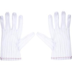 Anti Static Gloves Full Finger Labor Non-slip Glove for Electronics 230x100mm White 5 Pairs