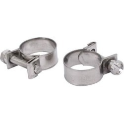 16mm-18mm 304 Stainless Steel Screw Mounted Adjustable Pipe Hose Clamps 2pcs