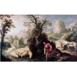 Posterazzi SAL2621509 Allegory-Jacob Laying the Peeled Rods Bartolome Esteban Murillo 1617-1682 Spanish Oil on Canvas Poster Print - 18 x 24 in. found on Bargain Bro Philippines from Newegg Canada for $54.86