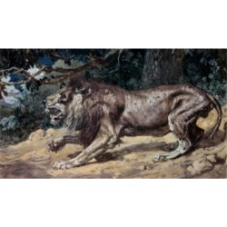Posterazzi SAL999393 The Lion Seeketh Whom He May Devour James Tissot 1836-1902 French Jewish Museum New York Poster Print - 18 x 24 in. found on Bargain Bro India from Newegg Canada for $52.03
