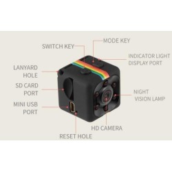 Mini Camera SQ11 HD Camcorder HD Night Vision Mini Camera 1080P Aerial Sports Mini DV Voice Video Recorder
