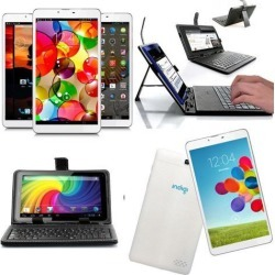 Indigi® 7' Android 4.4 Tablet 3G SmartPhone WiFi Bluetooth Free Keyboard Case US Seller