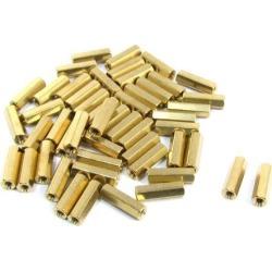Unique Bargains 50 Pcs Brass M3x15mm Female Screw PCB Hex Pillars Standoffs Spacers