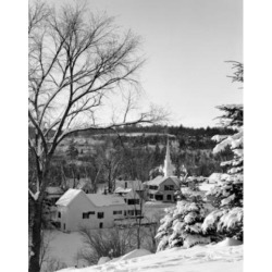 Posterazzi SAL255424048 USA New Hampshire Whitefield Village in Snow Poster Print - 18 x 24 in.