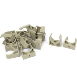 PPR Water Supply Pipe Clamps Snap in Clips Fitting Gray 32mm Dia 15 Pcs