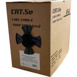 GlobalTone Bulk Ethernet Cable Network Cat5e UTP Solid RJ-45 CCA 500ft Gray in Pull Thru Box