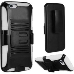 iPhone 7 Case, Heavy Duty Dual Layer Rugged Armor Holster Defender Full Body Protective Hybrid [Shockproof Hard Case] Cover with Side Kickstand and