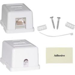 Cable Wholesale Cat 5e Single Surface Mount Box, Unshielded