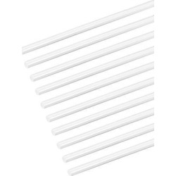 3/64×20 inch ABS Plastic Round Bar Rod for Architectural Model Making DIY White 10pcs