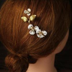 Bride Vintage Party Rhinestone Flower Hair Comb Luxury Wife Hair Decor