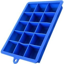 Cubed Ice Maker Ice Cube Square Tray Mold Whiskey Cube Cocktails Silicone Blue