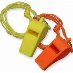 Topwin 2 Pieces Plastic Whistle with Lanyard for Emergency Survival Marine Safety